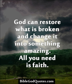 God can restore 