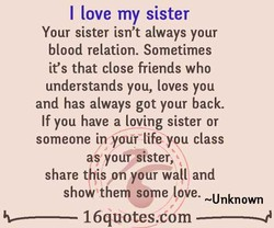 I love my sister 