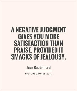 A NEGATIVE JUDGMENT 
