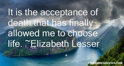It is the acceptance of 