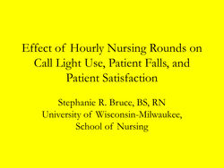 Effect of Hourly Nursing Rounds on 