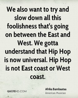 We also want to try and 