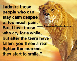 I admire those 
