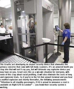 The Israelis are developing an airport security device that eliminates the 