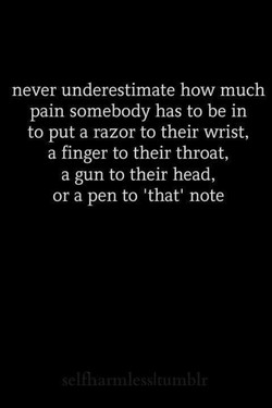 never underestimate how much 