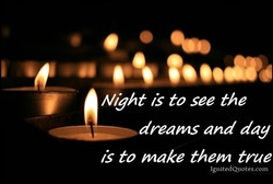 Night is to see the 