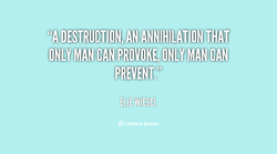 MAN CAN PROVOKE, ONLY MAN CAN 