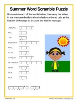 Simmer Word Puzzle 