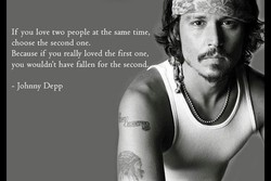 If you love two people at the same time, 