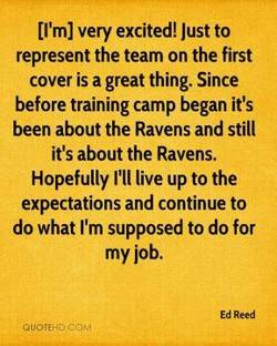 [I'm] very excited! Just to 