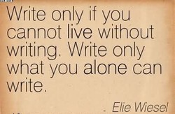 Write only if you 