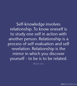 Self-knowledge involves 