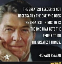 THE GREATEST LEADER IS NOT 