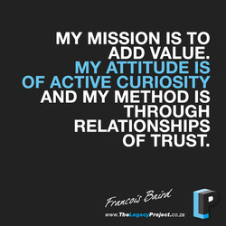 MY MISSION IS TO 