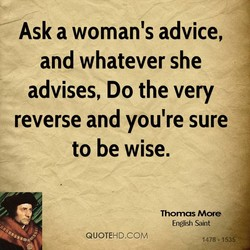 Ask a woman's advice, 
