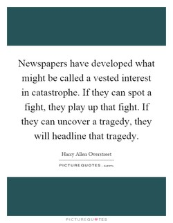 Newspapers have developed what 