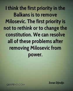 I think the first priority in the 