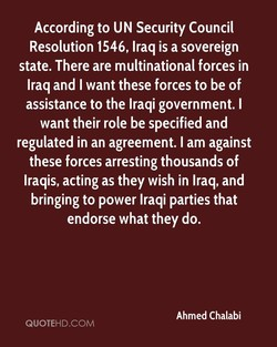 According to UN Security Council 