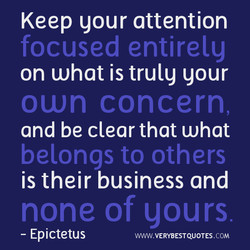 Keep gour attention 
