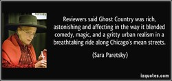 Reviewers said Ghost Country was rich, 