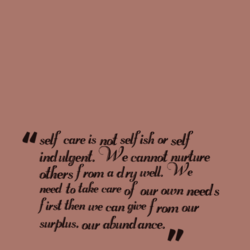 self care is not selfish (Y 