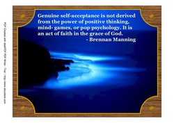 Genuine self-acceptance is not derived 