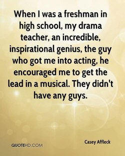 When I was a freshman in 