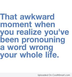 That awkward 