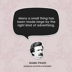 Many a small thing has 