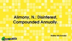 Alimony, N.: Disinterest, 