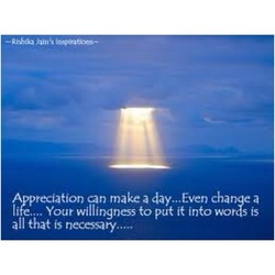 Appreciation can make day...Even change a 