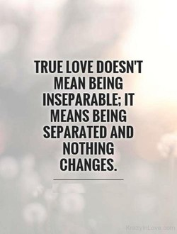 TRUE LOVE DOESN'T 