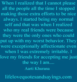 When I realized that I cannot please 