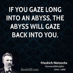 IF YOU GAZE LONG 