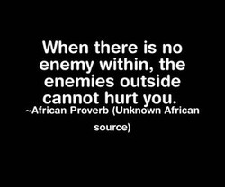 When there is no 