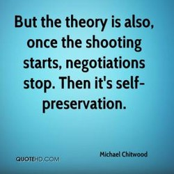 But the theory is also, 