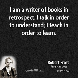 I am a writer of books in 