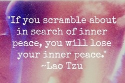 'If you scramble about 