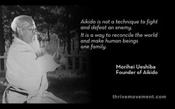 Aikido is not a technique to fight 