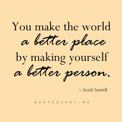 You make the world 