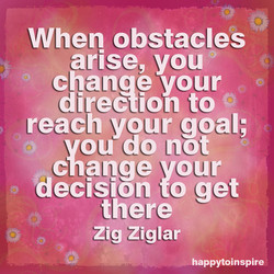 When obstacles 