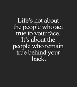 Life's not about 