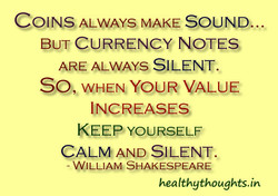 COINS ALWAYS MAKE SOUND. 