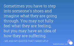 Sometimes you have to step 