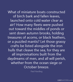 What of miniature boats constructed 