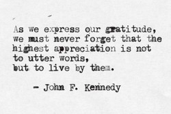 As we express our 