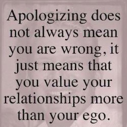 Apologizing does 