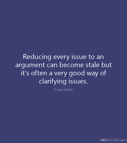 Reducing every issue to an 