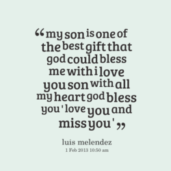 my son is one of 