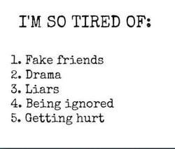 I'M SO TIRED OF; 